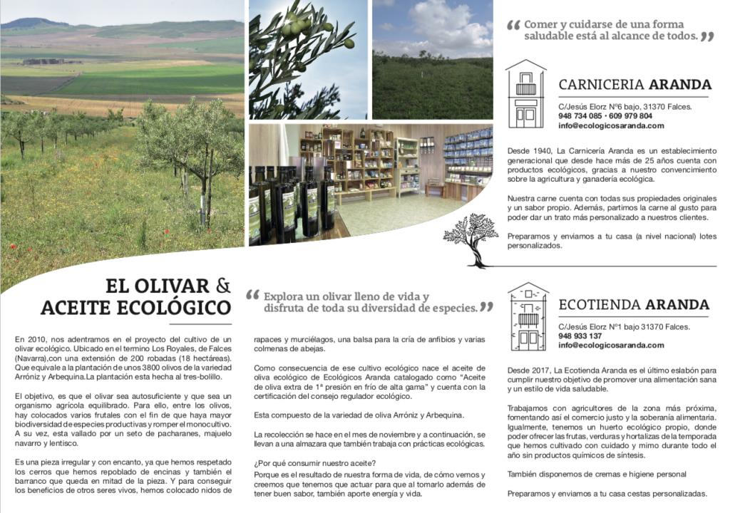 Contraportada Nuevo tríptico Ecológicos Aranda - Noticias Ecológicos Aranda