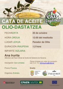 Cartel Cata Aceite Ecológico Olite- Noticia Ecológicos Aranda
